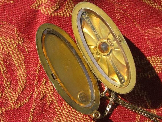 Art Nouveau Locket Necklace - image 5