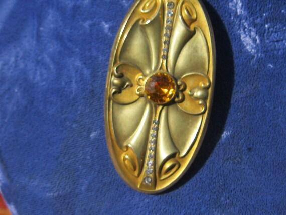 Art Nouveau Locket Necklace - image 10