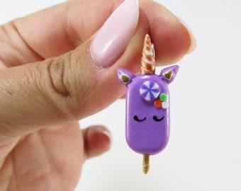 Necklace - Mini purple unicorn popsicle | Chez Laurette (mini)