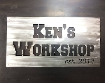Man Cave Workshop Garage Custom Steel Wall Art Larger Size Horizontal Forget The Home Depot Giftcard Buy Him