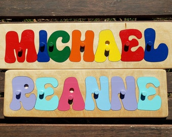 Name Puzzle W/Pegs, PREMIUM Custom Name Puzzle, Personalized Wooden Name Puzzle.