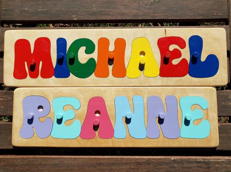 Name Puzzle W/Pegs PREMIUM Custom Name Puzzle Personalized image 0