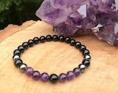 Psychic Attack Shield Bracelet Chakra Healing Crystals Grounding Divine Love Protection Negative Energy Vampire Balance Aura