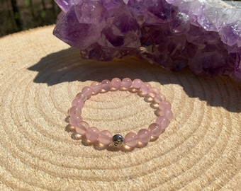 Protection Intuition Dispel Negativity Amethyst Bracelet Peace Harmony Divine Goddess Love Meditation Yoga Mala Chakra Healing
