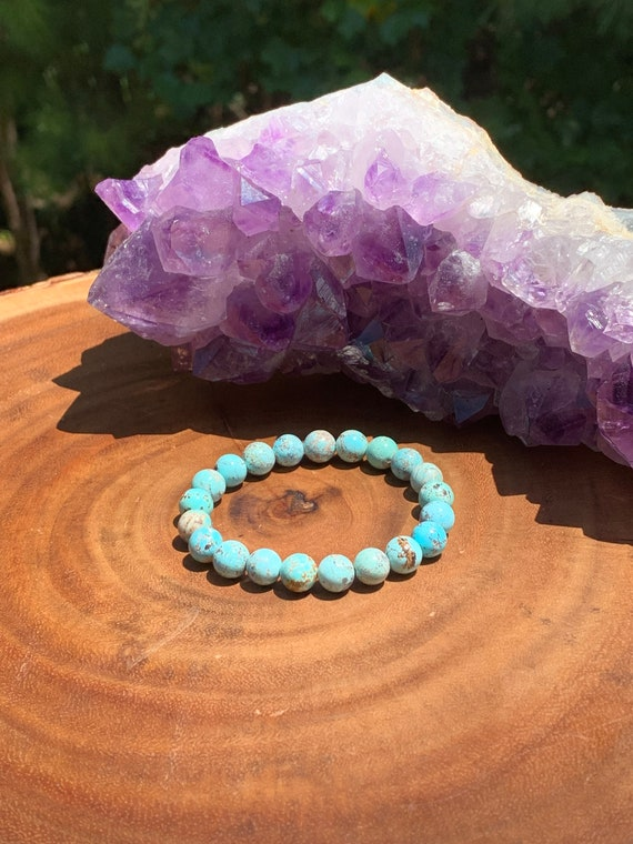Emotionally Soothing-EMF Protection-Intuition Rainbow ite Stacking Bracelet 6mm Beads Throat Chakra Healing Crystals Stress /& Anxiety