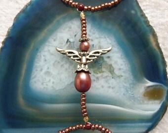 Freshwater pearls angel. Elastic slave bracelet. Beaded stretchy bracelets ring. Finger bracelet. Hand jewelry. Hand chain. Ring bracelet.