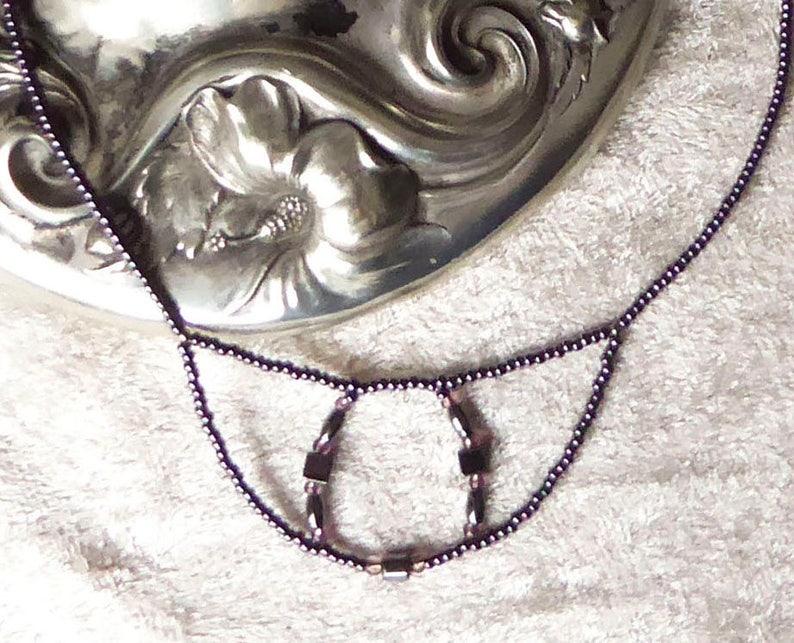 SALE 30 percent Hematites. Purple metallic. Crystal necklace. image 0