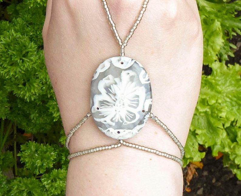 Polymer clay slave bracelet. Bracelet ring. Finger bracelet. image 0