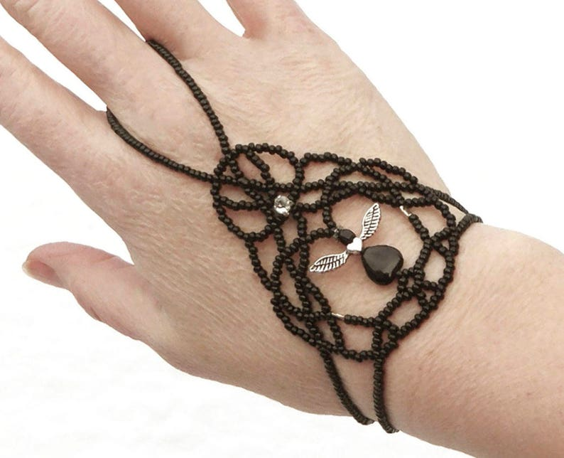 Angel elastic slave bracelet. Bracelet ring. Finger bracelet. image 0