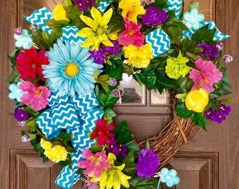 Etsy Front Door Wreath | Summer Wreath | Grapevine Wreath | Door Wreath | Wreaths on Etsy | Etsy Wreaths