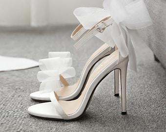 Bridal Shoe Wedding Shoe For Bride Bride Shoe Wedding Heel For Bride Ivory Heel, Wedding Heel White Wedding Shoe