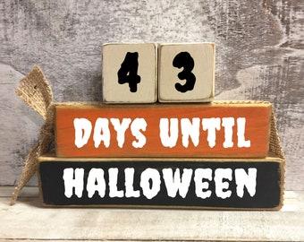 Halloween Countdown, Days Until Halloween, Halloween blocks, Fall, Autumn, Trick or Treat, Halloween decoration, Countdown to Halloween