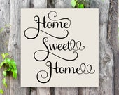 Home Sweet Home, Small Wood Sign, Housewarming Gift, Wood Sign ,Home Decor, Home, No Place Like Home, Home Sign, Sign for Home, Home Life