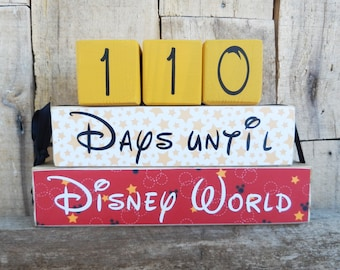Disney Countdown, Disney World Countdown,  Disneyland Countdown, Countdown Blocks, Days Until Disney, Disney, Disneyland, Vacation Countdown