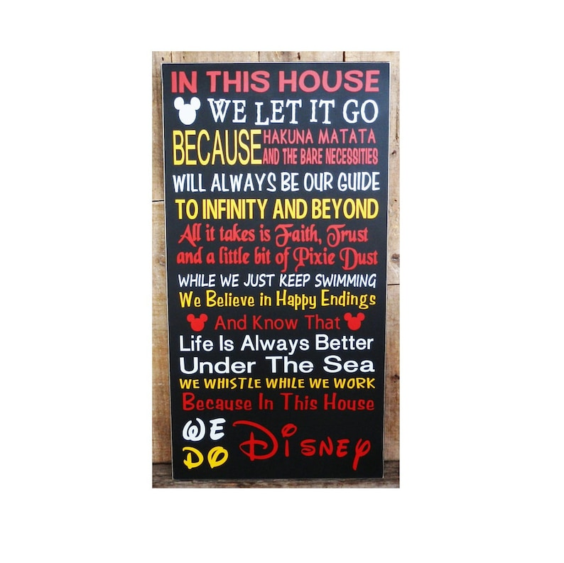 In This House We Do Disney Wood Sign Disney Sign Disney image 0