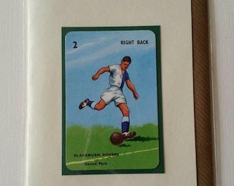 Original des années 1950 « l'objectif » carte Blackburn Rovers