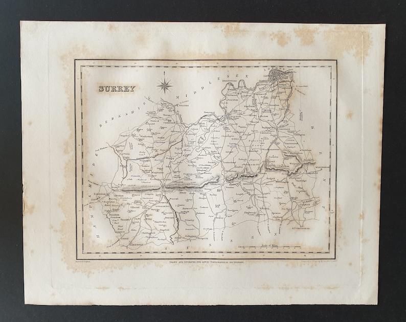 Original 1831 map Surrey