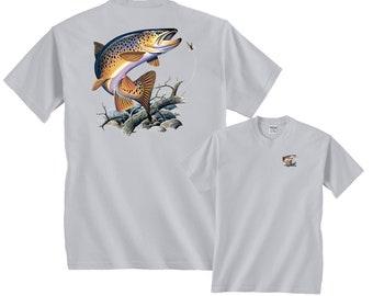 91c0a2a2a7d3 Brown Trout Fishing T-Shirt