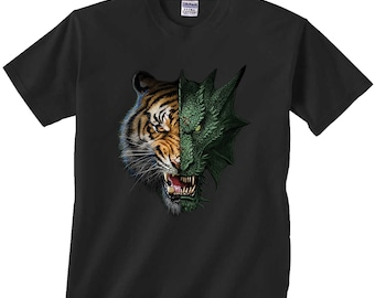 d8b3f3846 Half Dragon Tiger T-Shirt