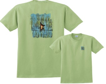 2bfd6b4a30fb8 Redfish Going for Lure Fishing T-Shirt