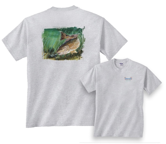 643c0832babf5 Food Fight Redfish Fishing T-Shirt