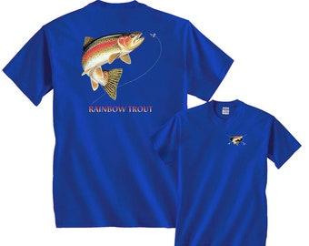Rainbow Trout Profile Fishing T-Shirt