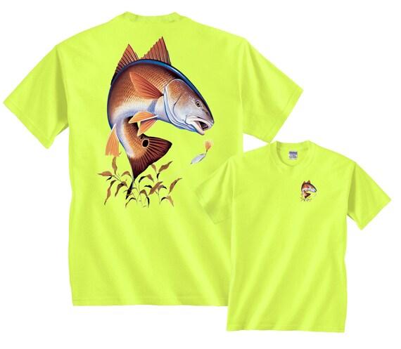 76060416f3c5cd Redfish Going for Lure Fishing T-Shirt