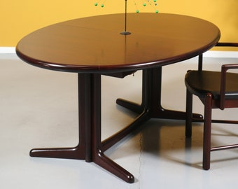 Danish Modern Rosewood Dining Table By Boltinge Stolefabrik