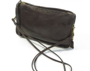 Vintage RARE, Bonnie Cashin, 1970s, Brown Leather Coach Bag! Cross Body / Shoulder Bag! Made in NYC