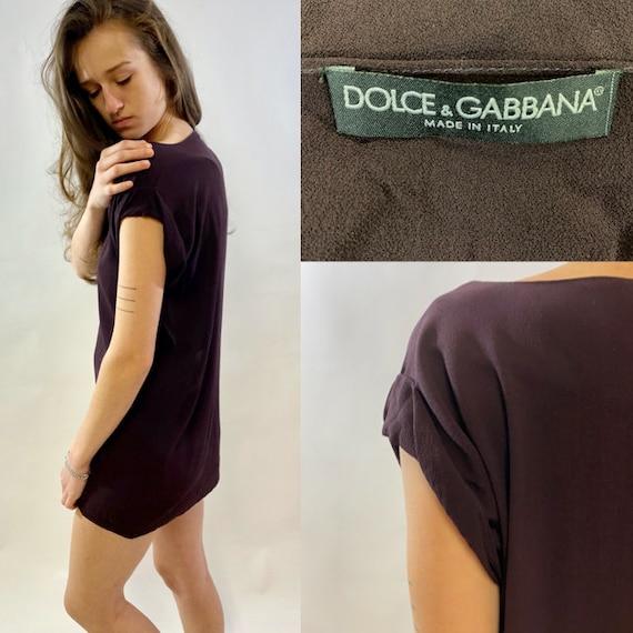 00's Dolce and Gabbana, Silk Georgette Burgundy To