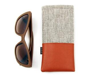 c20701c40126 Sunglasses case eyeglass holder eyeglasses case sunglass case vegan  personalized gift for her