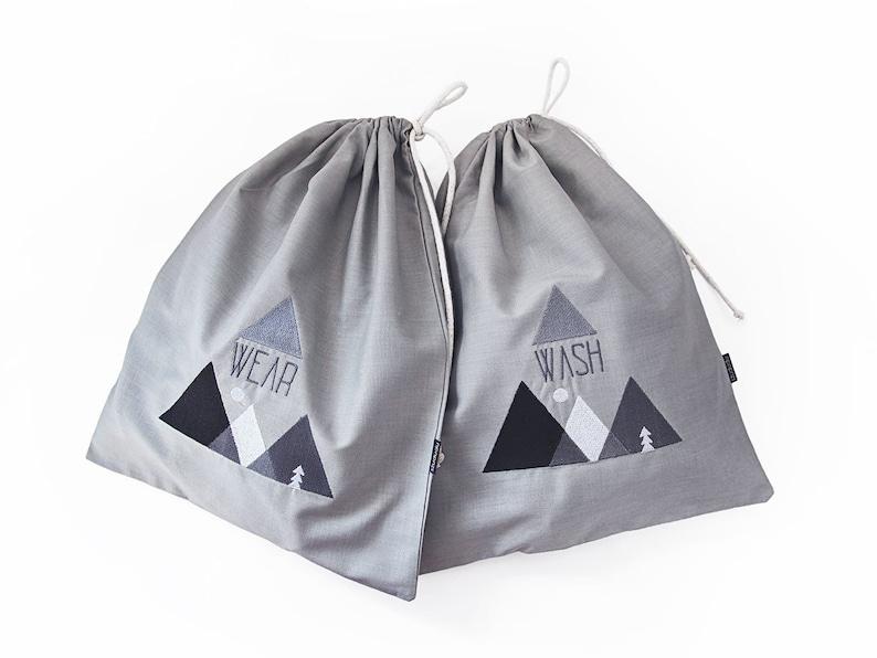 cute laundry travel bags lingerie bags travel gift for wanderer undergarment organizer Travel laundry bags SET underwear organizer