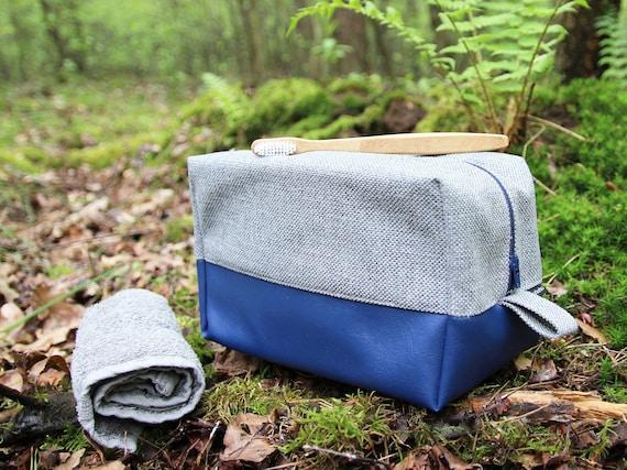 3ce32da594 Cosmetic bag  Medium toiletry bag blue Navy travel organizer