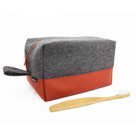 Mens toiletry bag, travel cosmetic bag, mens dopp kit shaving kit bag designer cosmetic bags luxury toiletry bag christmas gift travel gift
