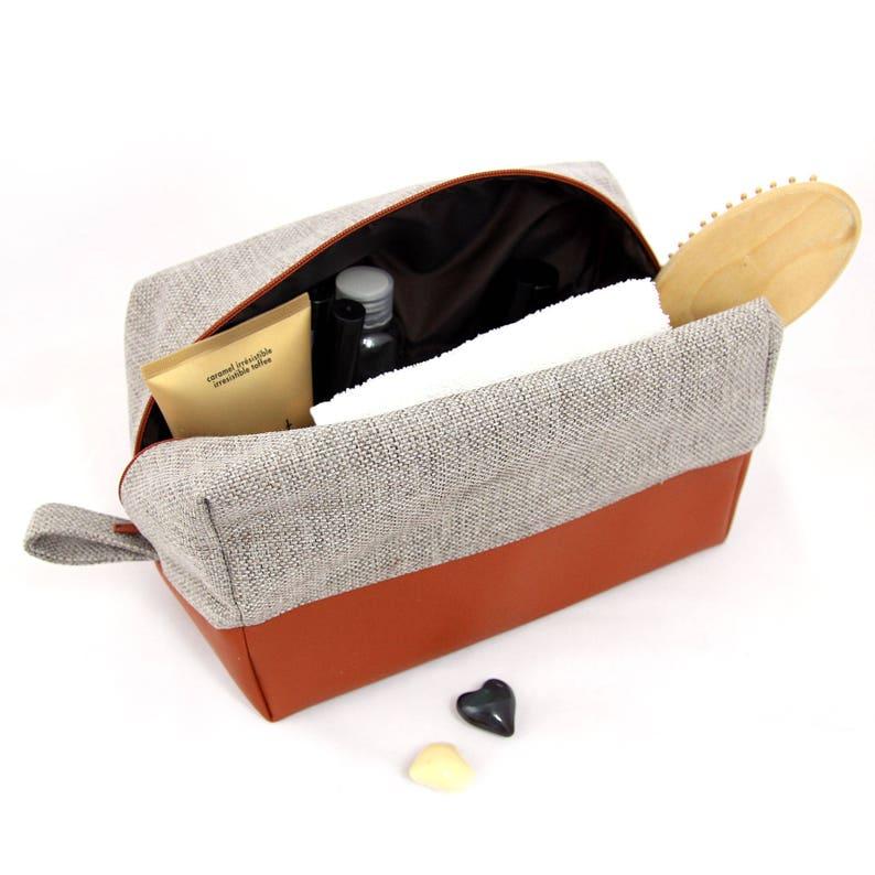 c6b589ee84 Large toiletry bag for women  vegan makeup bag mens dopp kit