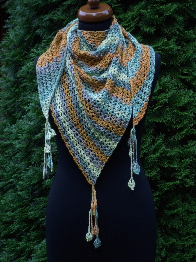 Magnifiek Katoen gehaakte driehoek sjaal Baktus-sjaal Xmas gift   Etsy @RT41