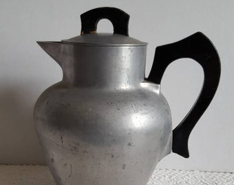 Rare Banner Cast Aluminum Coffee Pot with Coffee Insert and Screen