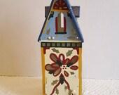 LENOX Winter Greetings Painted Metal Tealight or Votive Bird House