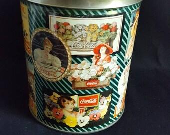 Vintage Coca Cola Jigsaw Advertising Tin with Jigsaw Puzzle, Coke Collectible, Coke Memorabilia, Coke Nostalgia