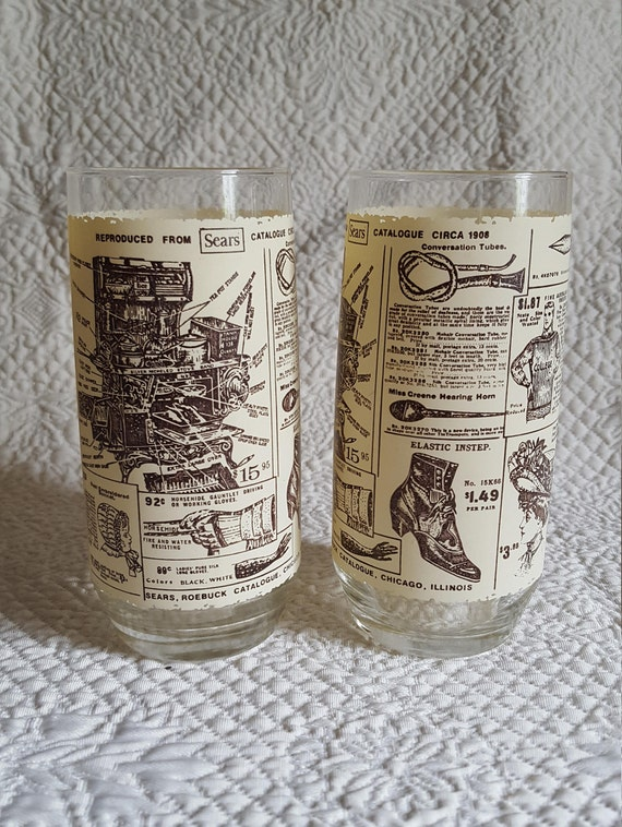 Sears Lawton Ok >> 1908 Historical Sears Catalog Pages Reproduction Set Of 2 16 Oz Tumblers