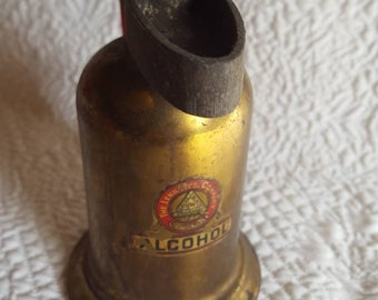 Lenk Manufacturing Co. Hand Held Brass Alcohol Blow Torch