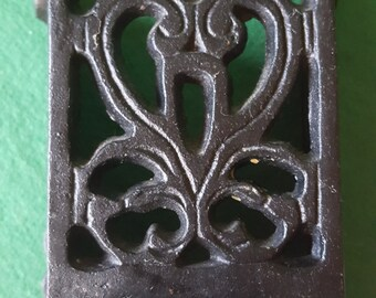 Vintage Cast Iron Match Stick Holder