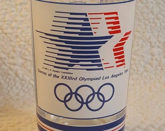 1984 XXlll rd Olympiad Los Angeles Collectors Glass