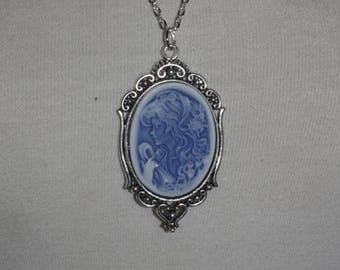 Necklace-Medallion [Blue Lady]