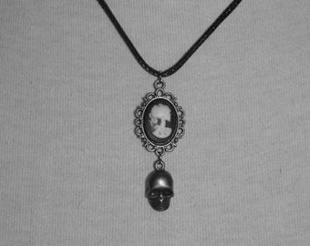 Necklace 18x13 [Skull and skull-bronze]
