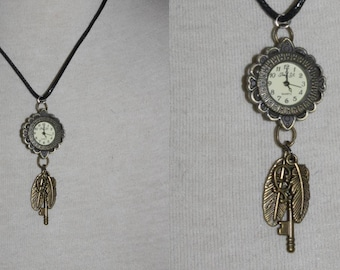 Chain [pocket watch] pendant with springs and keys