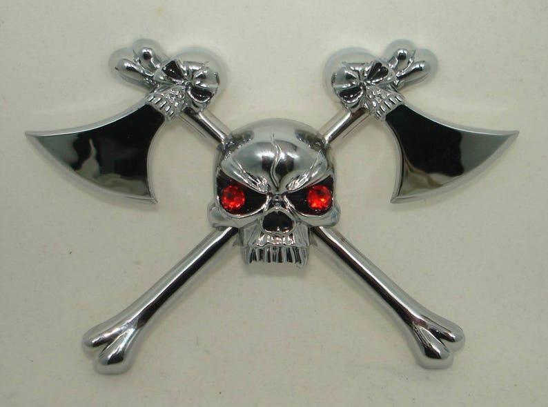 3D Metal Car Sticker Skull Decal Pirate Car Motorcycle Sticker