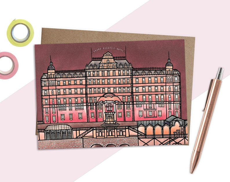 Wes Anderson Card The Grand Budapest Hotel Quirky Card Film image 0
