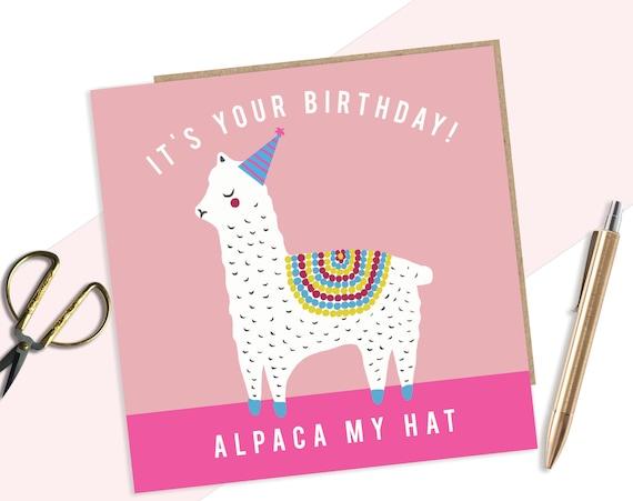 Alpaca Birthday Card Funny Pun