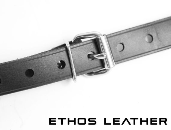 Male DP Leather Strap On by Axovus Large Size